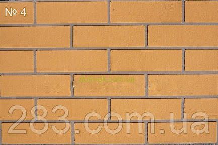 Гибкий кирпич  (клинкер), цвет 4  гладкая фактура кирпич 4 мм на сетке, фото 1