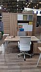 Рабочее место Delta DL-102 (1590х1600х750мм) Блэквуд Ячменный/Каркас белый, фото 6