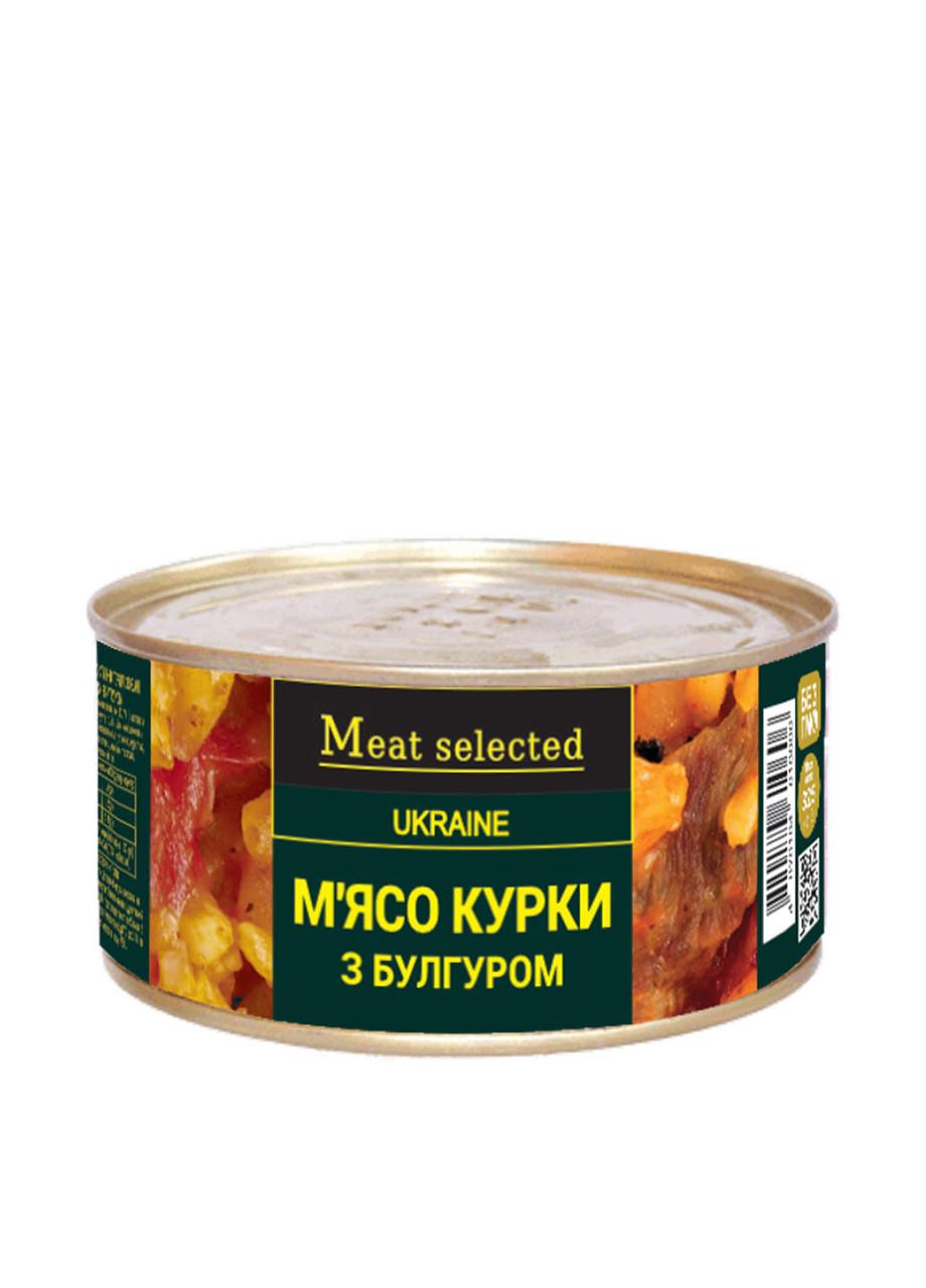 """Тушенка Мясо курицы с булгуром 325г """"Meat selected"""""""