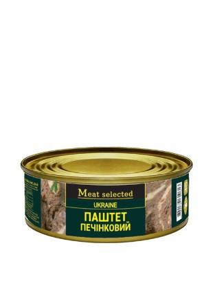 "Паштет печінковий  ""Meat selected"" 240г металева банка"