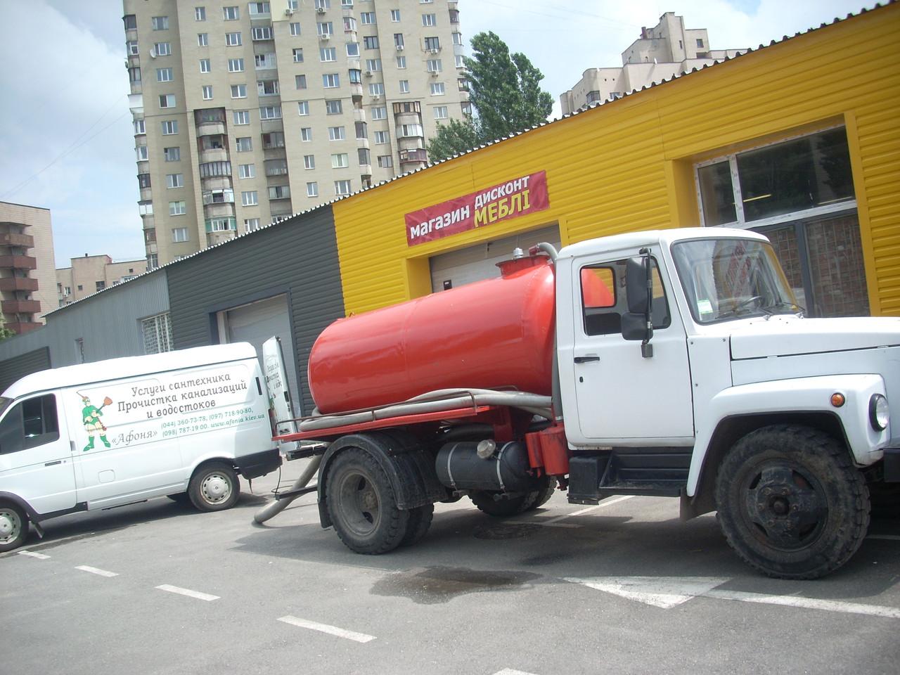 Выкачка ям Киев -прочистка канализации