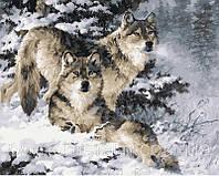 РукИТвор Картина по номерам (VP344) Пара волков (40х50)