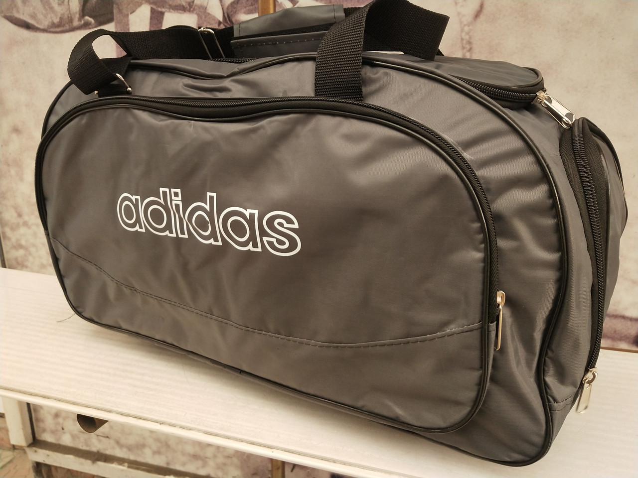 Сумка Дорожная adidas с отделом для обуви. Серый