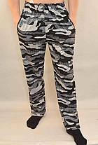 Штани спортивні чоловічі трикотажні камуфльовані - міський камуфляж, фото 2