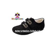 Туфли на девочку 33,35,36 р черные замшевые Шалунишка арт 5591.