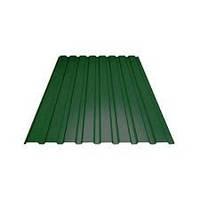 Профнастил (пс 10) (0,95*2м) 1,9кв.м  0,35мм (зеленый)