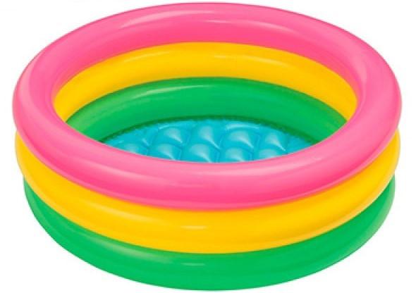Детский надувной бассейн intex58924 круглый для детей от 1 года.