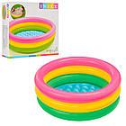 Детский надувной бассейн intex58924 круглый для детей от 1 года., фото 2