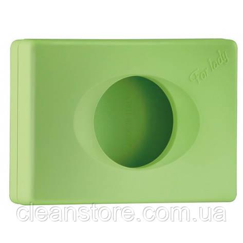 Держатель гигиенических пакетов зеленый, фото 2