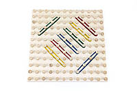 Математичний планшет «Геометричні резиночки» 12х12, Розумний Лис, фото 1