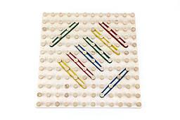 Математичний планшет «Геометричні резиночки» 12х12, Розумний Лис