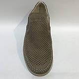 42,44 р.Мокасины летние мужские кожаные туфли Maxus / коричневые отличного качества, фото 2