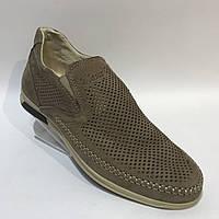 Мокасины летние мужские кожаные Maxus / коричневые, фото 1