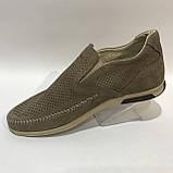 42,44 р.Мокасины летние мужские кожаные туфли Maxus / коричневые отличного качества, фото 6