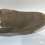42,44 р.Мокасины летние мужские кожаные туфли Maxus / коричневые отличного качества, фото 3