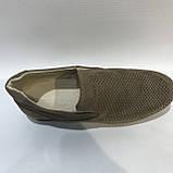42,44 р.Мокасины летние мужские кожаные туфли Maxus / коричневые отличного качества, фото 7