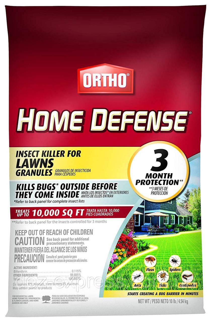 Средство от клещей, муравьев, блох, сороконожек, пауков и т.д. Ortho Home Defense (4.54 kg) USA