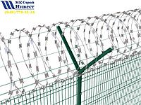 Колючая проволока (Егоза) Спиральный барьер безопасности d-600 (5 скоб), фото 1