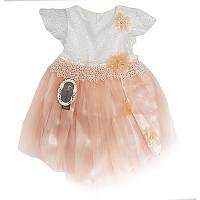 Платье для девочки, кружево + фатин 80-104 (1-4 года)