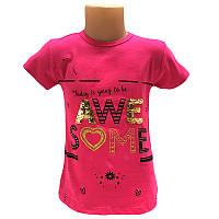 Футболка для девочки 110-128 (5-8 лет) арт.12586 3 цвета