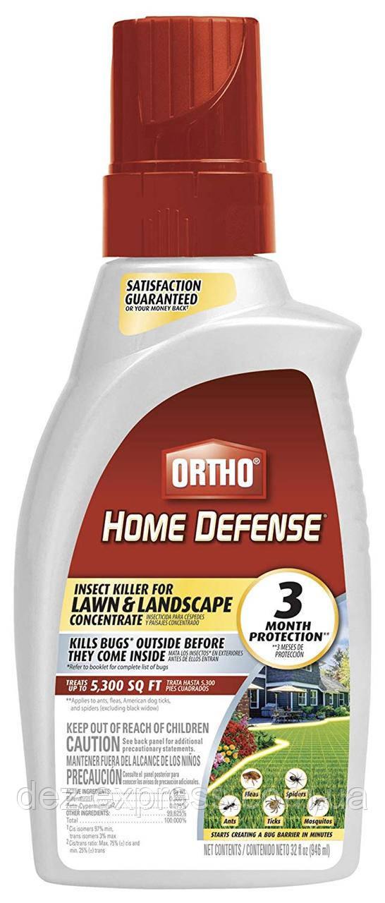 Защита дома и сада от Всех насекомых. Клещей, Блох, Муравьев, Пауков и т.д ORTHO Home Defense Концентрат