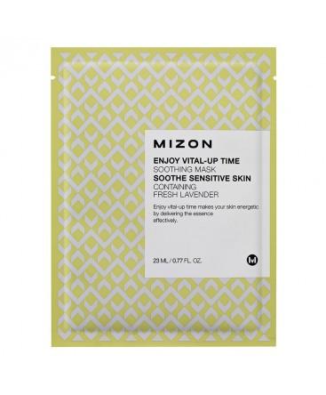 Смягчающая маска для лица с экстрактом лаванды Mizon Enjoy Vital-Up Time Soothing Mask Soothe Sensitive Skin