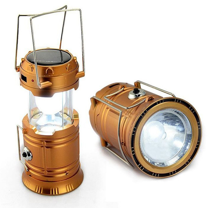 Кемпинговый фонарь SL - 5800 с аккумулятором и солнечной панелью функция Power bank