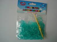 200 штук неоновых бирюзовых резиночек для плетения Loom Bands