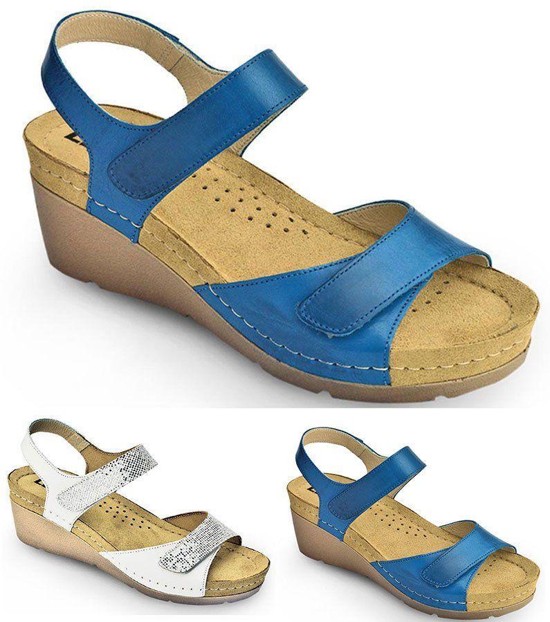 Сандалии ортопедические на платформе Leon 1041, цвет- Синий, размер 36