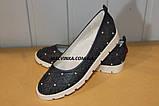 Туфли балетки на девочку синие 30 р Y.TOP арт 116-7., фото 4