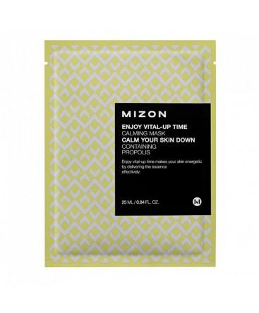 Успокаивающая маскас экстрактом прополиса MizonEnjoy Vital-Up Time Calming Mask Calm Your Skin Down