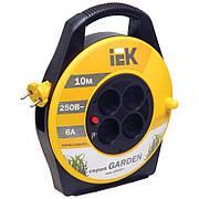 Катушка переносная УК10 с термозащитой 4 места 2P/10м 2×0,75 мм² серия GARDEN, IEK