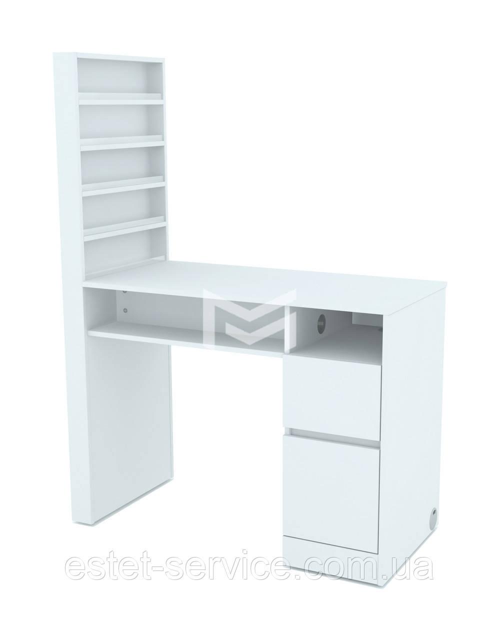 Маникюрный стол М120 в белом цвете