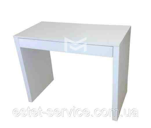 Маникюрный стол белый на одного мастера М124