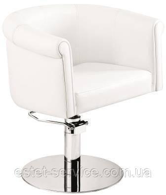 Белое кресло парикмахера на пневматике REFLECTION AM052