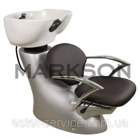 Парикмахерская мойка с хромированными подлокотниками  ZD-2201В Китайского производства