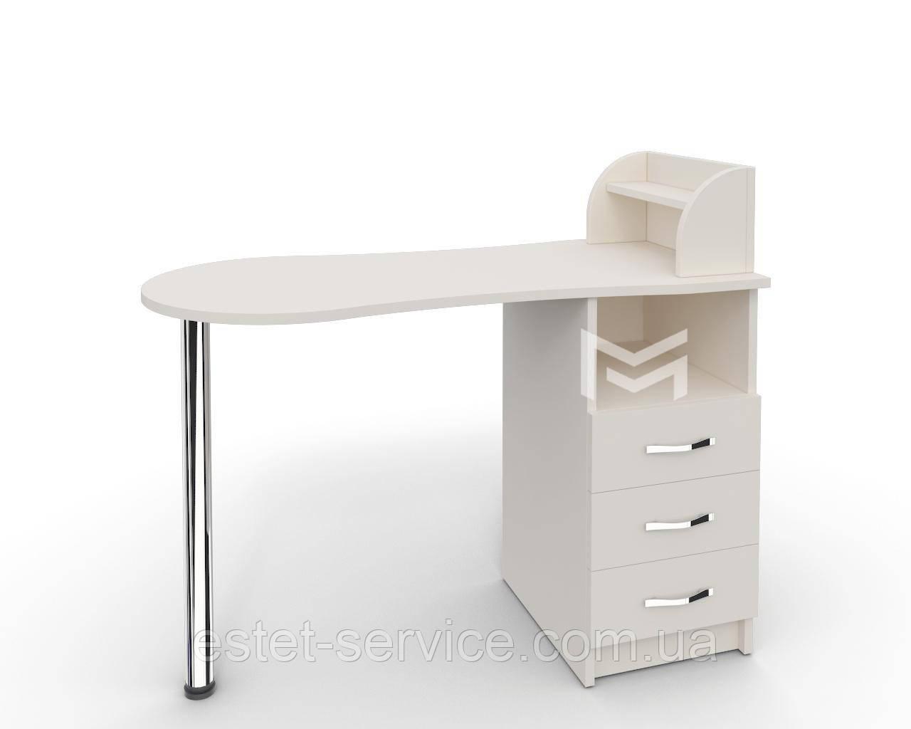Маникюрный стол профессиональный Естет №3 в БЕЛОМ цвете М103