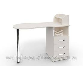 Стол для маникюра M103 Естет №3 в белом цвете