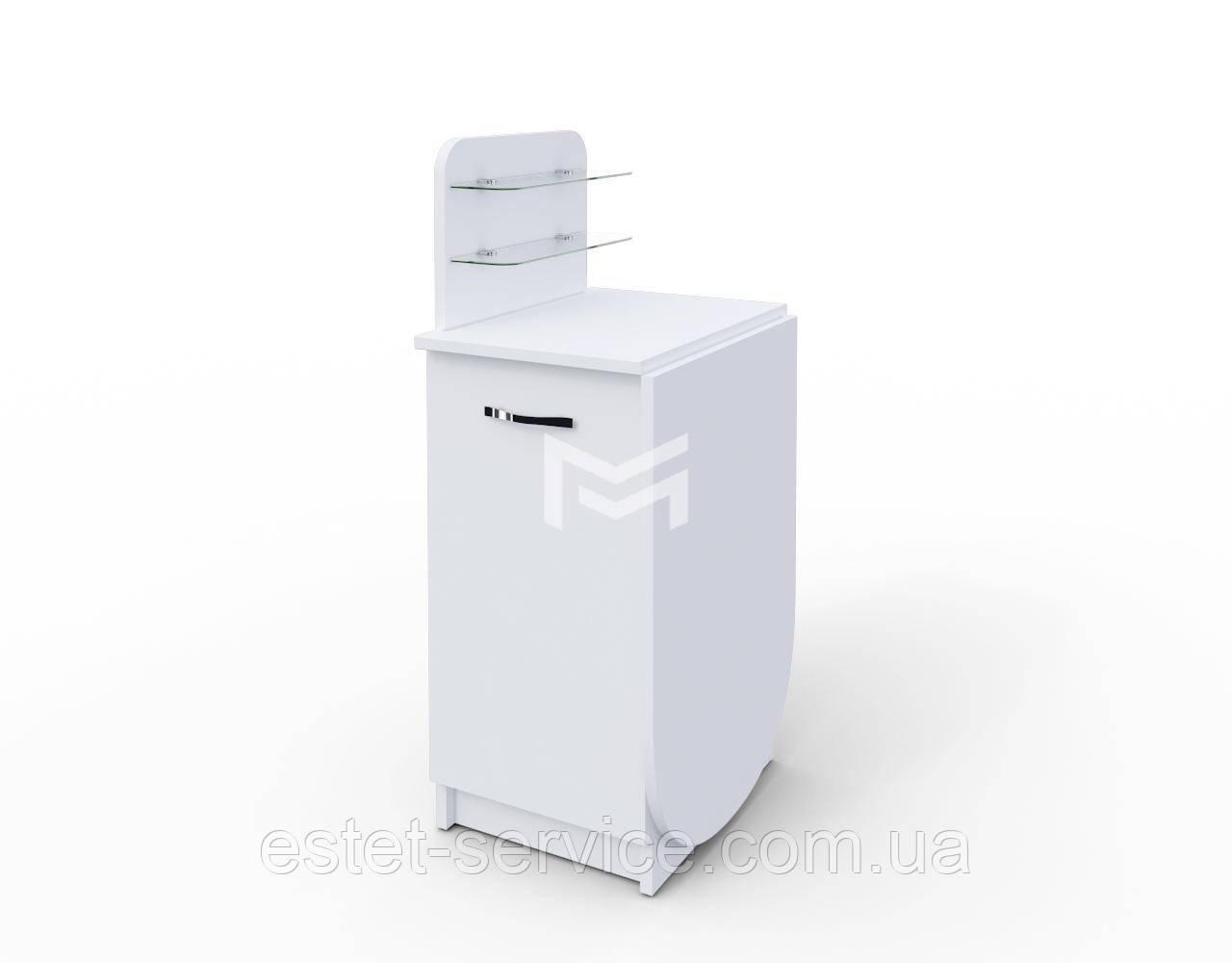 Раскладной стол для маникюра Практик компакт в белом цвете М105 К
