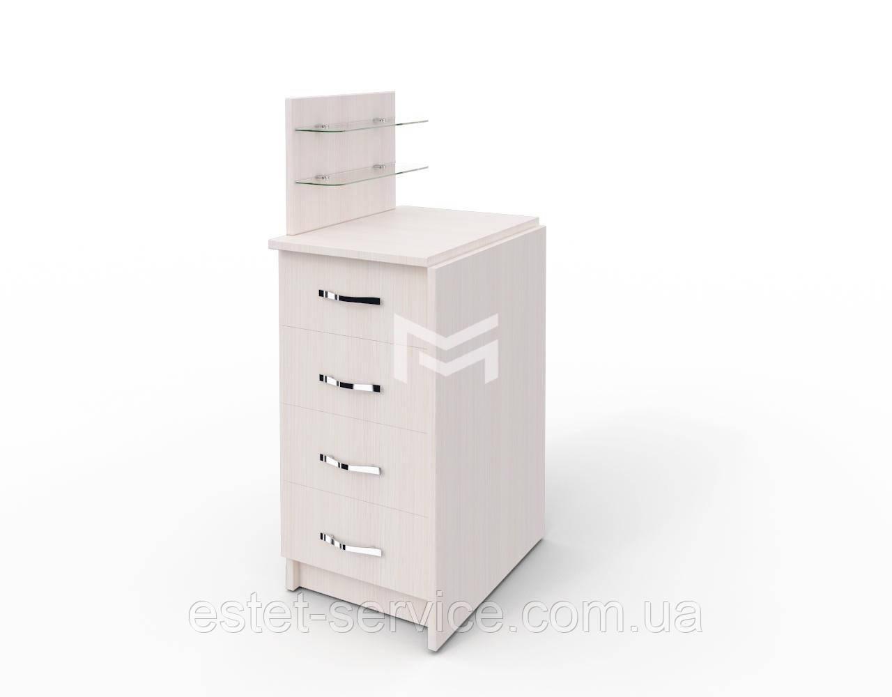 Стол для маникюра Классик компакт в БЕЛОМ цвете
