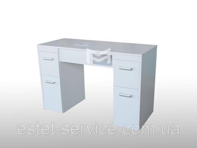 Столик маникюрный на две тумбы в белом цвете М126