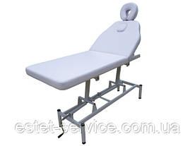 Массажный стол белый с регулировкой высоты 257