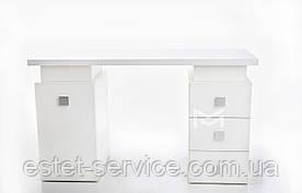 Маникюрный стол, стол для маникюра профессиональный Триумф на две тумбы М117