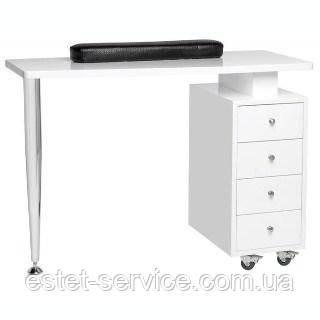 Передвижной маникюрный стол в белом цвете В108