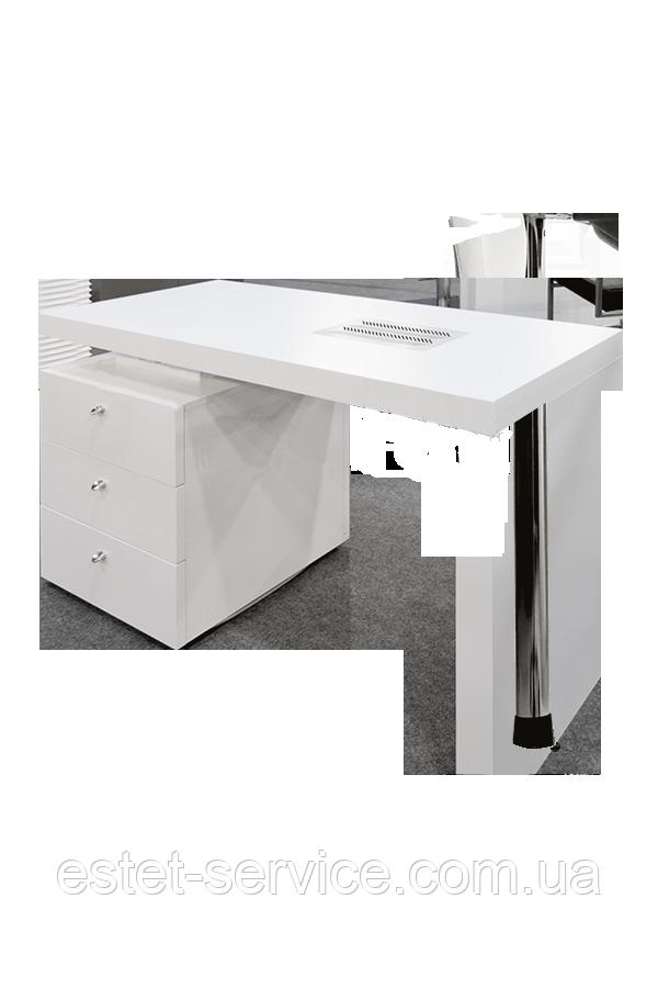 Универсальный маникюрный стол в белом цвете