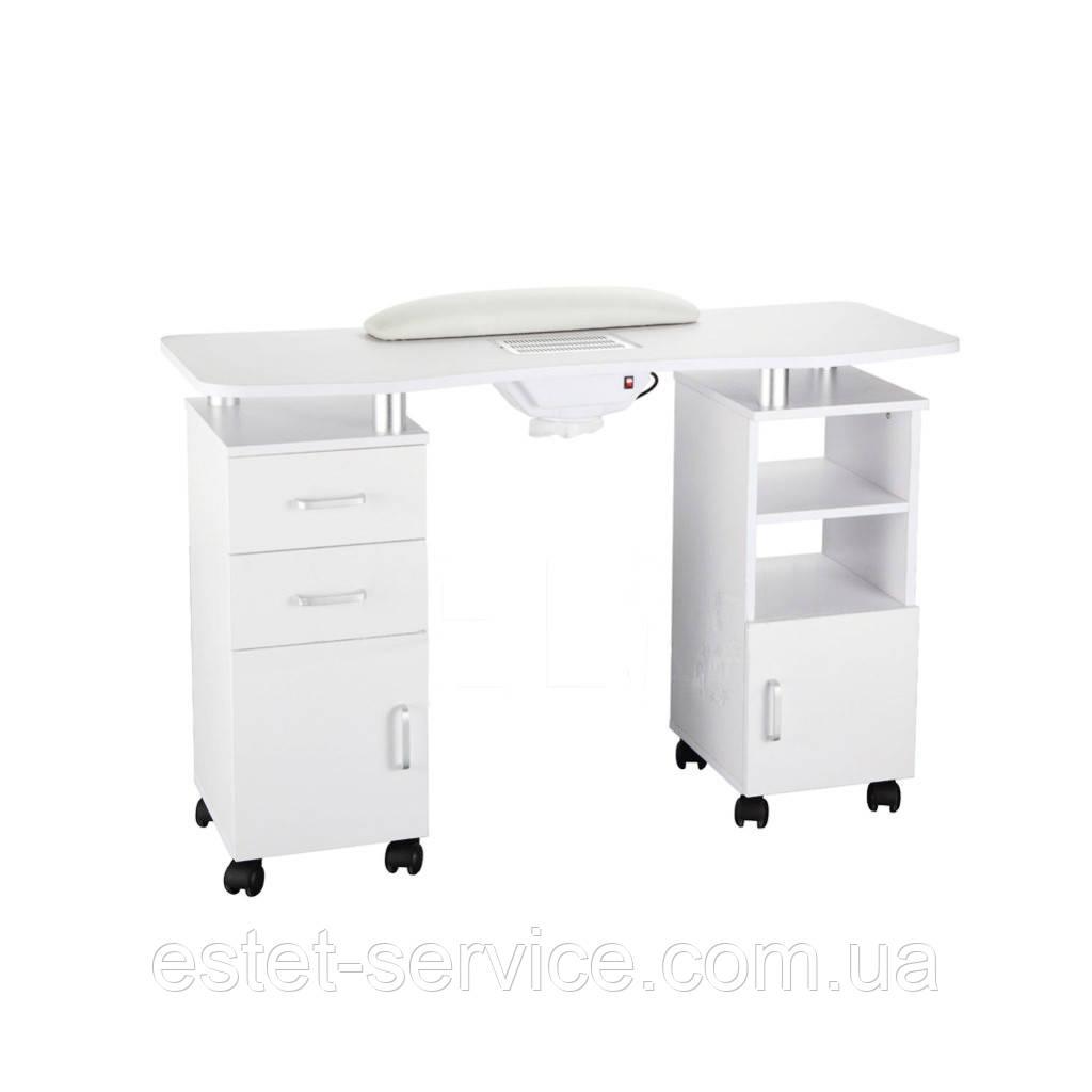 Двухтумбовый маникюрный стол на колесах