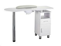 Универсальный маникюрный стол с вытяжкой на одну тумбу В130