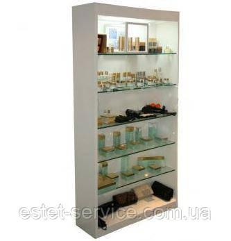 Белая витрина-стеллаж для продукции VM604