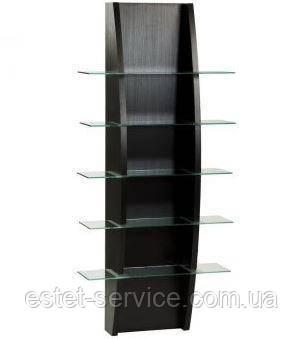 Черный стеллаж в парикмахерскую VM609