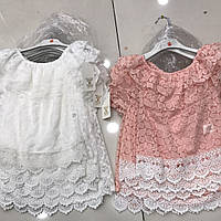 Гипюровые нарядные детские блузки для девочек  оптом Kids Star